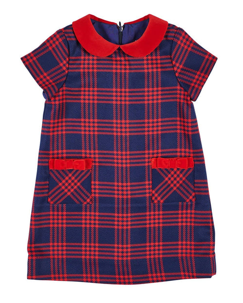 Navy and Red Plaid Dress - Florence Eiseman