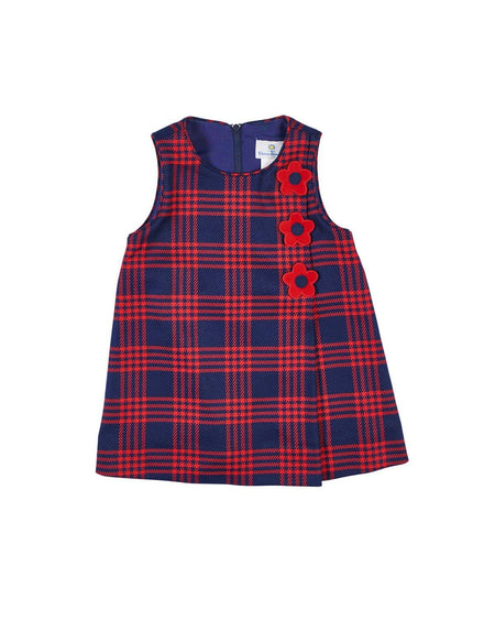 Navy Dress with Scottie Dog Purse