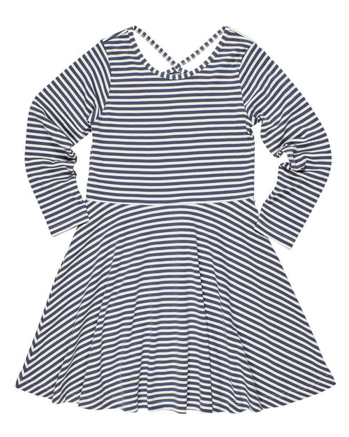 Stripe Knit Dress with Back Detail - Florence Eiseman