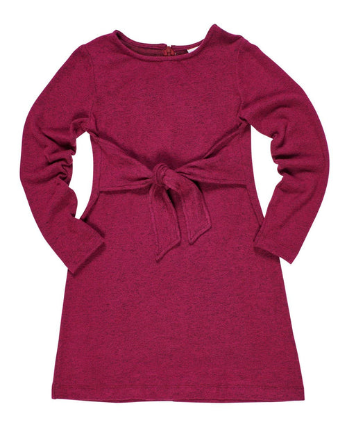 Fuchsia Heather Tie Front Knit Dress - Florence Eiseman