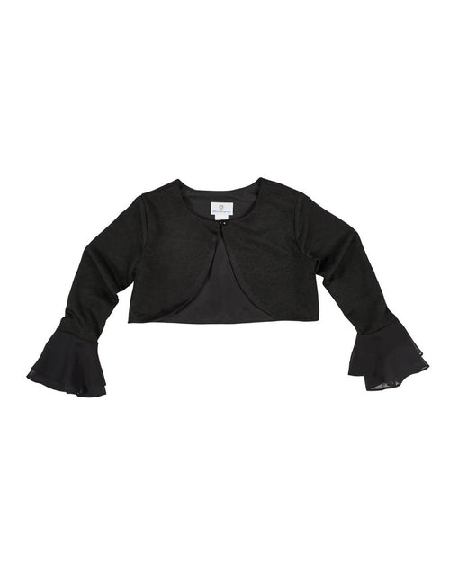 Crepe Knit Bolero with Chiffon Bell Sleeves - Florence Eiseman