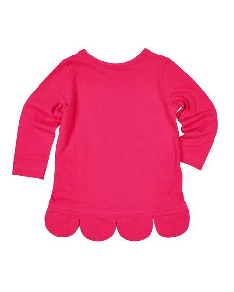 Magenta Knit Tunic with Scalloped Hem - Florence Eiseman