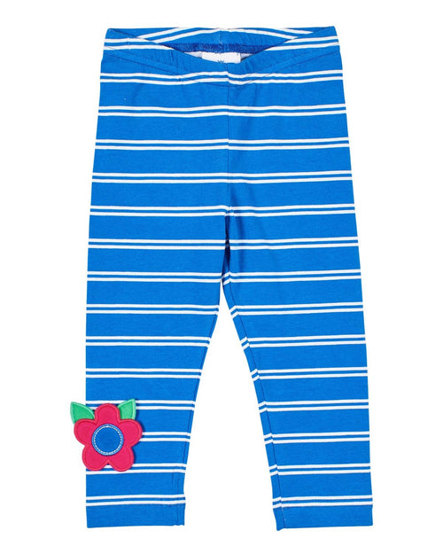 Royal Stripe Leggings with Flower Applique - Florence Eiseman