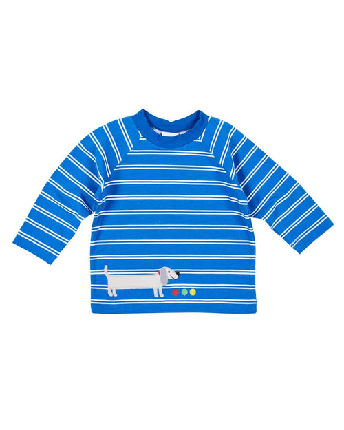 Boys Stripe Shirt with Wiener Dog Applique - Florence Eiseman