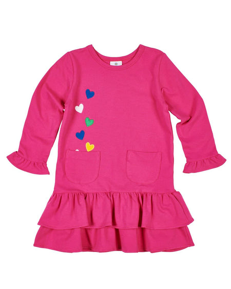 Pink Corduroy Jumper with Flowers