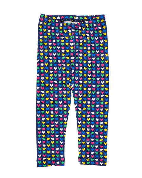 Navy Heart Print Leggings - Florence Eiseman