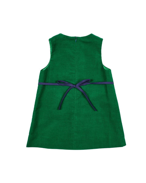 Green Corduroy Jumper with Ornaments - Florence Eiseman