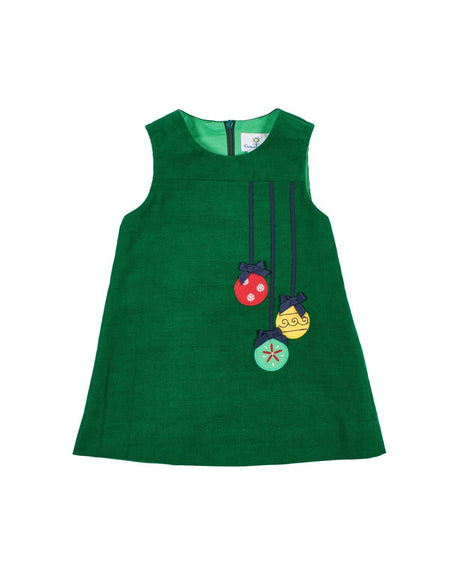 Baby and Toddler Girls Dress with Apple Pocket