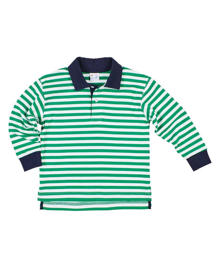 Navy and Green Rugby Shirt