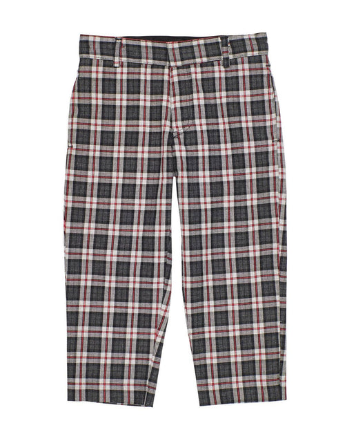 Grey and Red Plaid Pants - Florence Eiseman