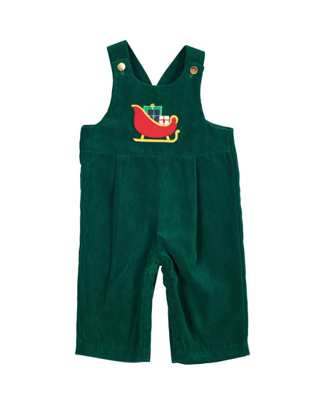 Jade Stripe Seersucker Shortall with Dinosaur Applique