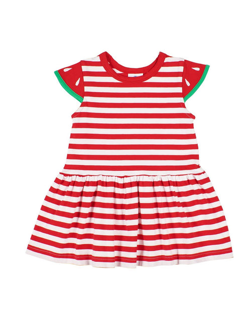 Red Stripe Knit Watermelon Dress - Florence Eiseman