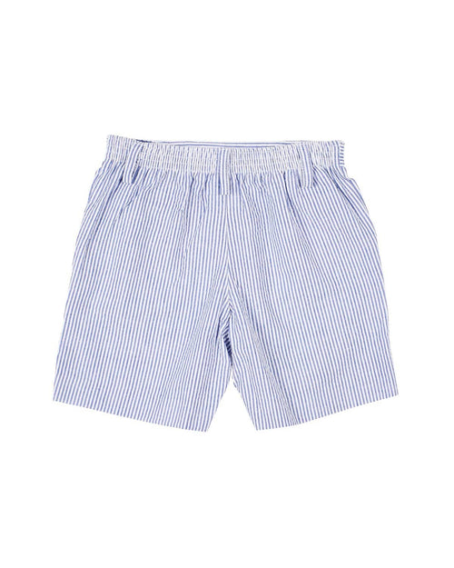 Boys Seersucker Shorts with Baseball Bats - Florence Eiseman