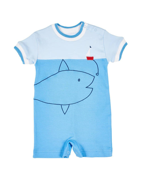 Boys Romper with Big Fish - Florence Eiseman