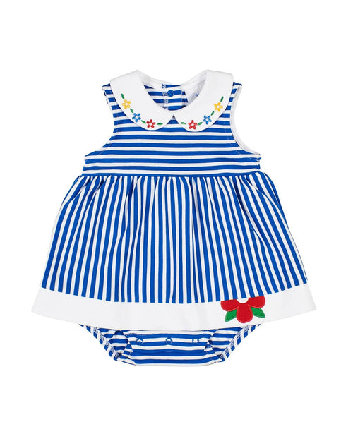 Royal Stripe Knit Romper-Dress - Florence Eiseman
