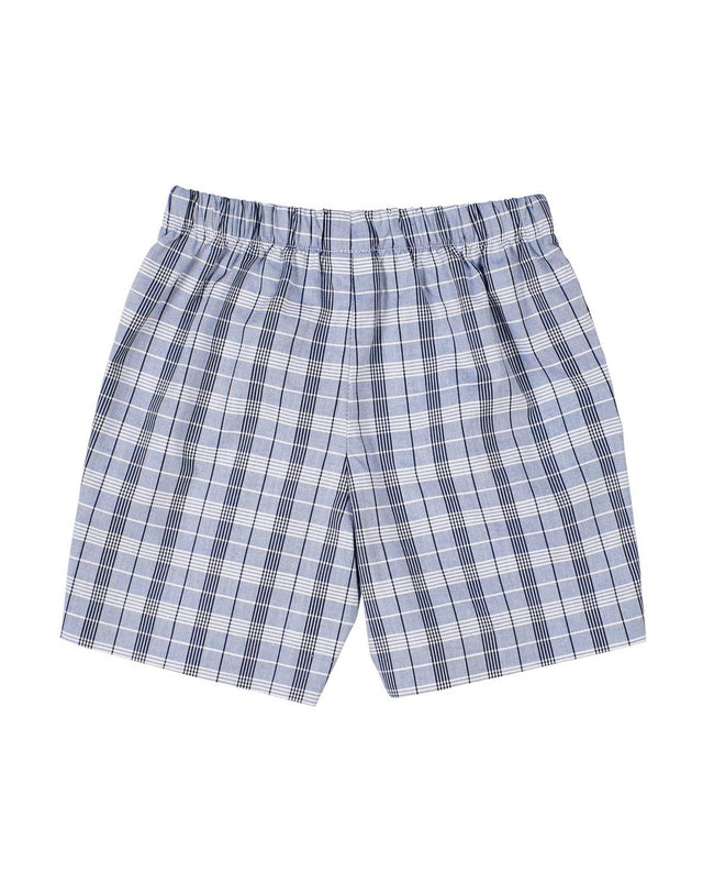 Navy Plaid Boys Shorts - Florence Eiseman