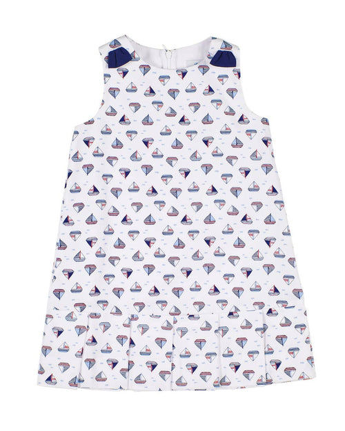 Sailboat Print Pique Dress - Florence Eiseman