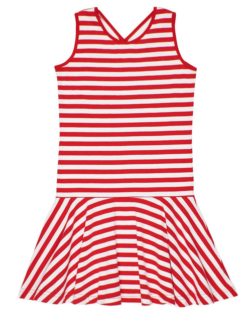 Red Stripe Dress with Back Detail - Florence Eiseman