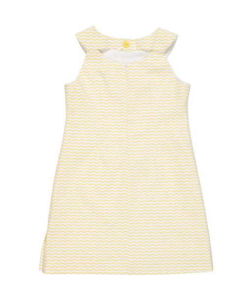Yellow Zig Zag Pique Dress - Florence Eiseman
