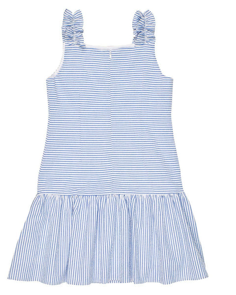Blue Seersucker Stripe Dress - Florence Eiseman