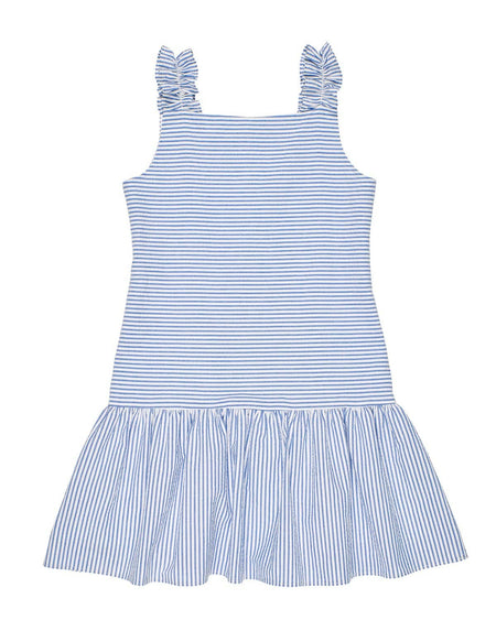 Baby Girls Pastel Seersucker Dress and Bloomer