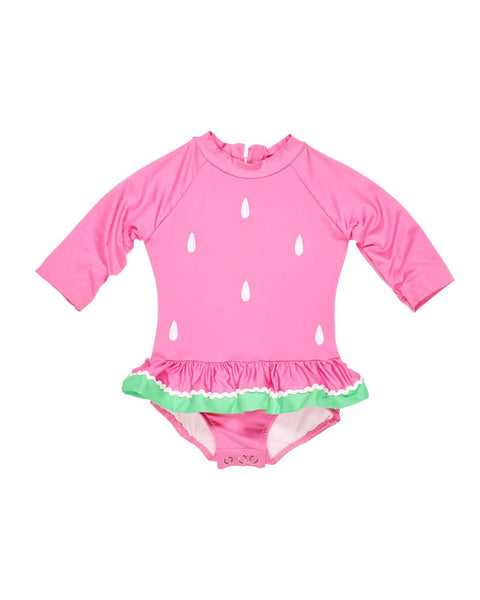 Pink Rash Guard All In One Swimsuit - Florence Eiseman