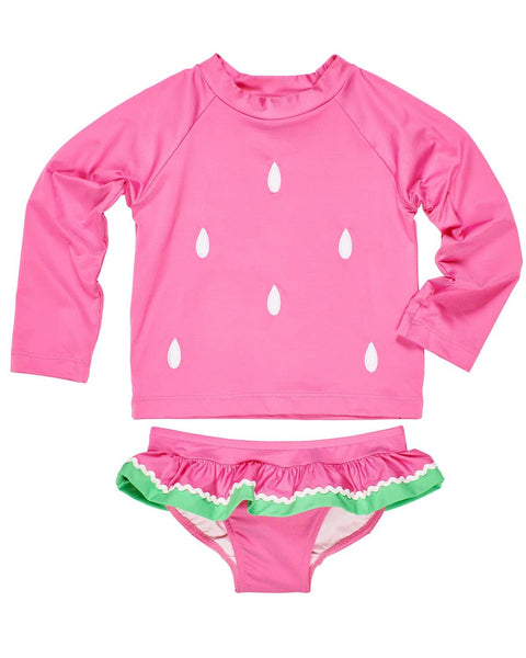 Pink Watermelon Rash Guard Swim Suit - Florence Eiseman
