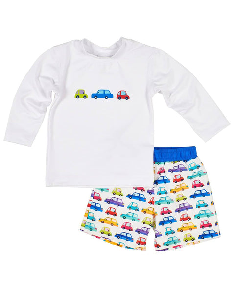 Car Print Swim Trunks - Florence Eiseman