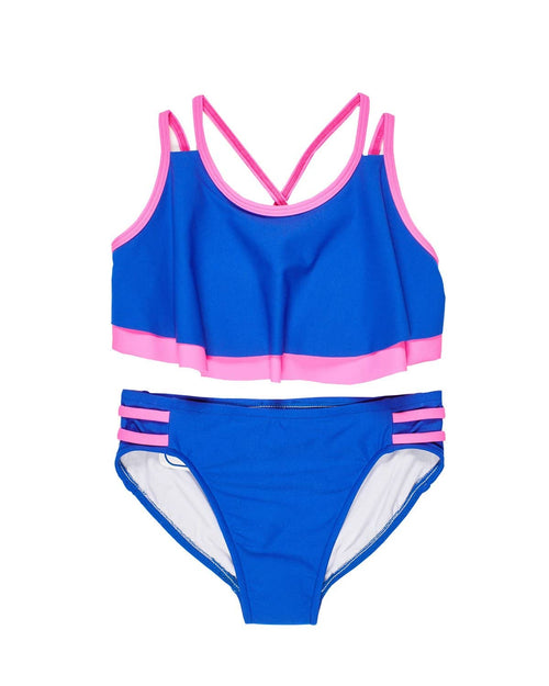 Tween Royal Bikini with Fly Away Top - Florence Eiseman