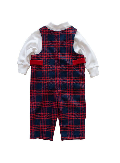 Navy and Red Plaid Boys Longall - Florence Eiseman