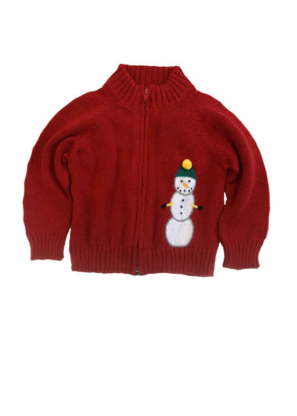 Red Snowman Sweater - Florence Eiseman