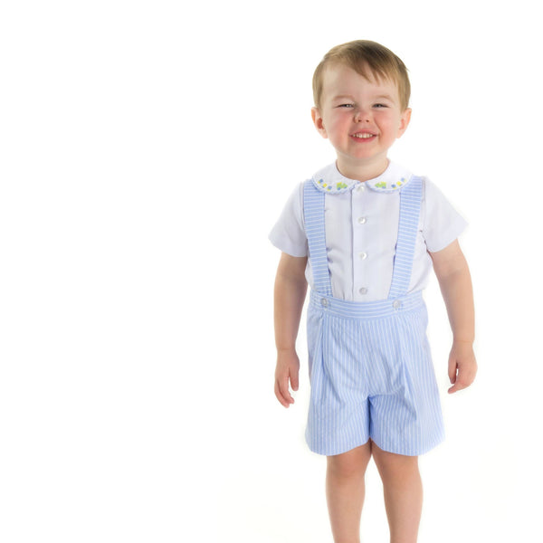 Boys Suspender Shorts and Shirt - Florence Eiseman