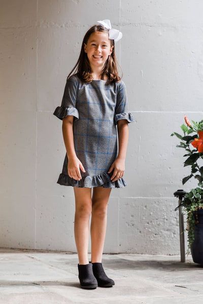 Plaid Dress with Ruffle Hem - Florence Eiseman
