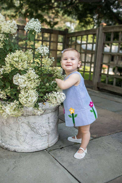 Girls Dress and Bloomer with Pop-Up Flowers