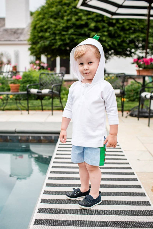 Boys Knit Cover-up with Alligator Spikes
