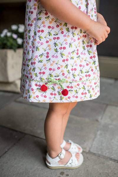 Pique Cherry Print Dress