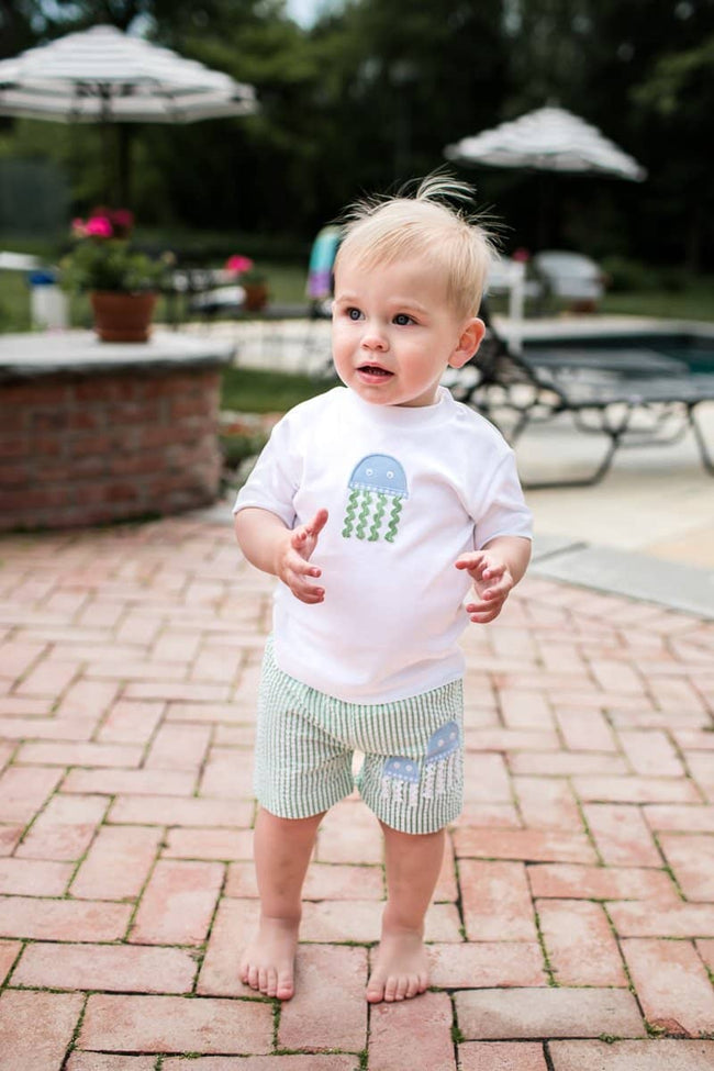 Boys T-Shirt with Jellyfish Applique