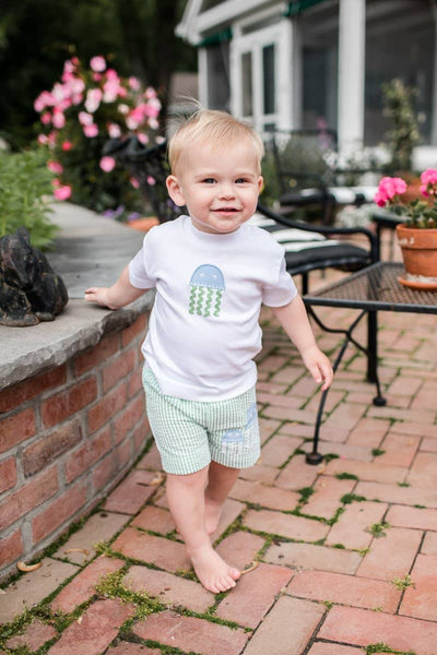 Boys T-Shirt with Jellyfish Applique - Florence Eiseman