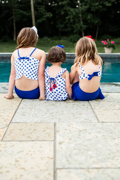 Swimsuit with Polka Dot Top