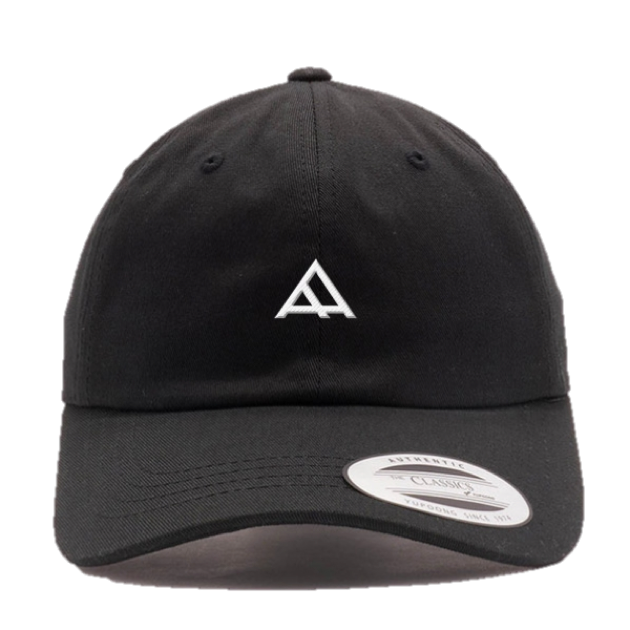 "Alpha Academy Logo Brand ""Dad"" Hat • White Stitching"