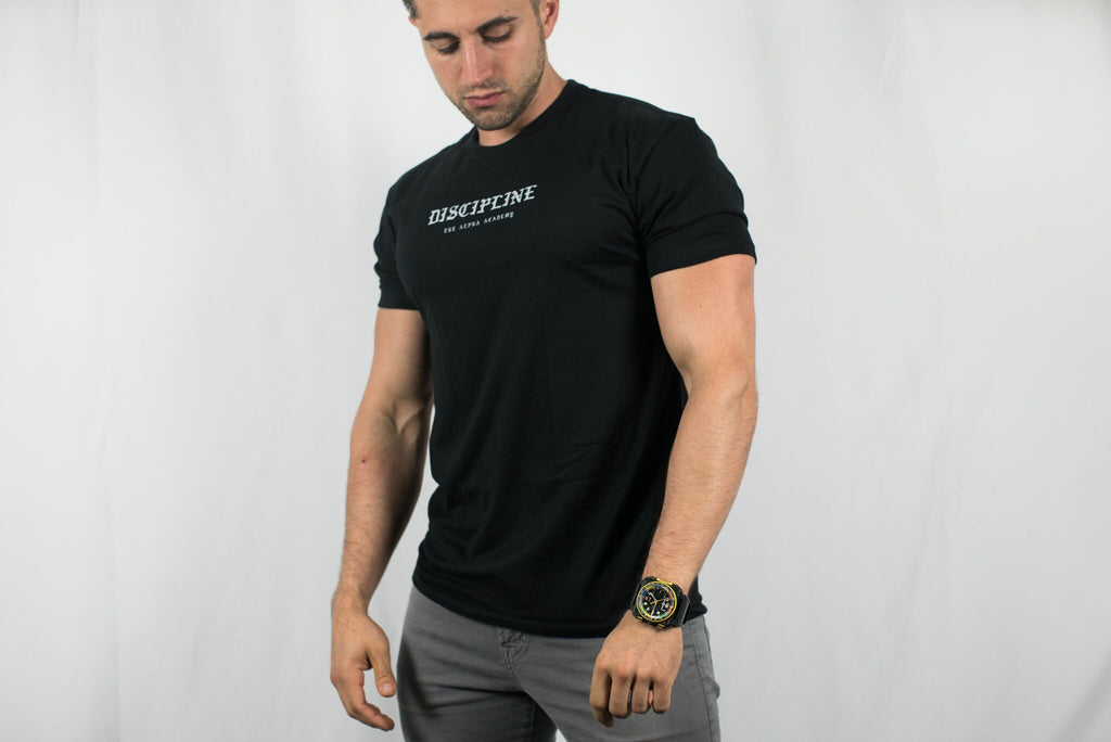 Discipline • Men's Short Sleeve Tee • Black