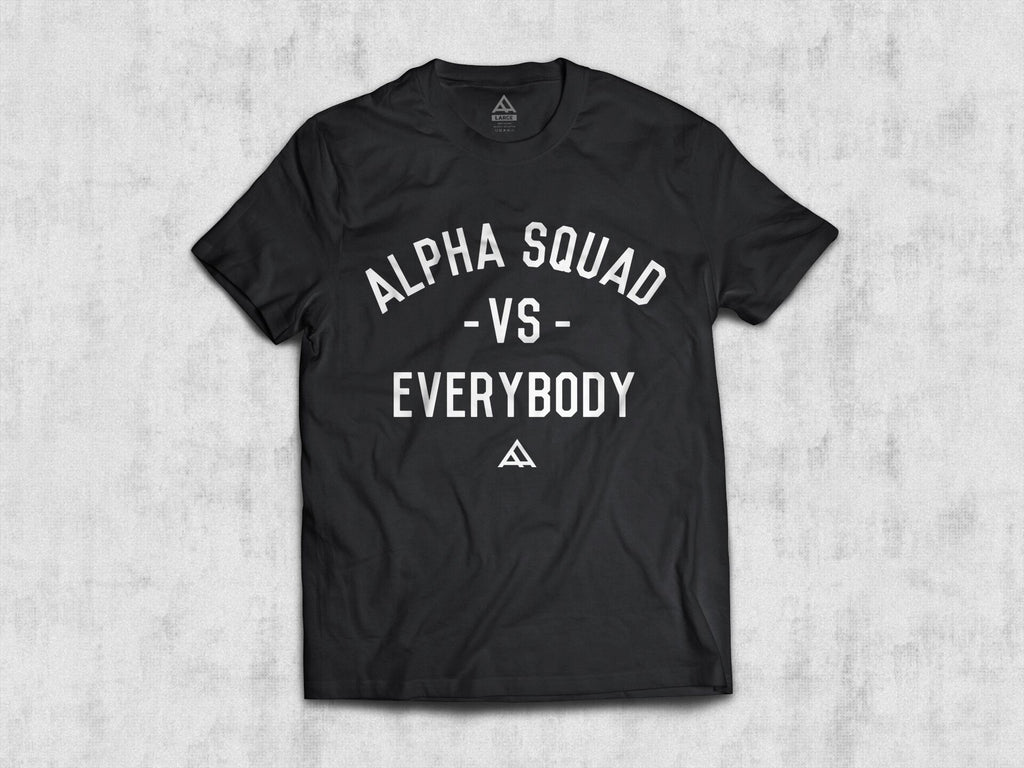 Alpha vs. Everybody • Men's Short Sleeve Tee