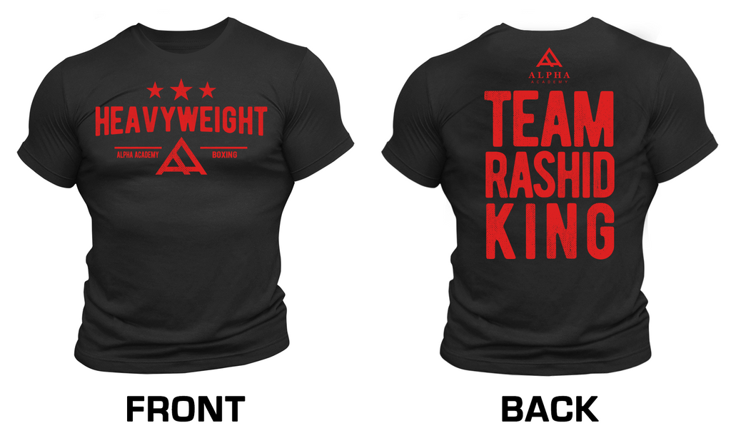 Team Rashid King Boxing • LIMITED AVAILABILITY • Men's Short Sleeve Tee • 2 Colors Available