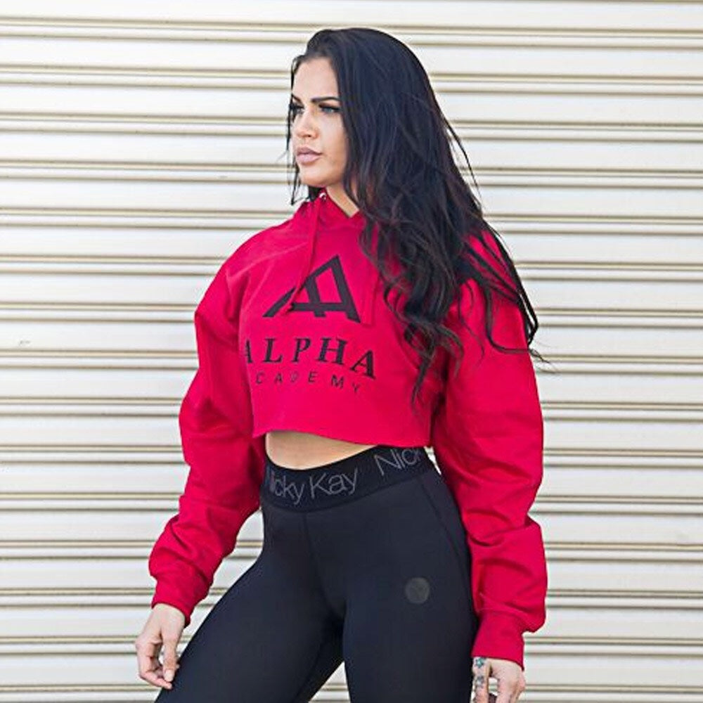 Alpha Academy Logo | Women's Cropped Hoodie