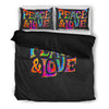 Peace and Love Bed Sheets - BohoHip