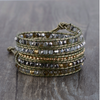 Leather Beaded Wrap Bracelet - BohoHip