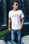 "Men's ""Teach Peace"" T-Shirt - BohoHip"