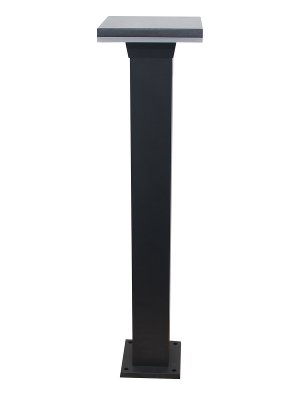 CDPA63 12W Bollard Pathway Lighting LED Square Top Modern Low Voltage