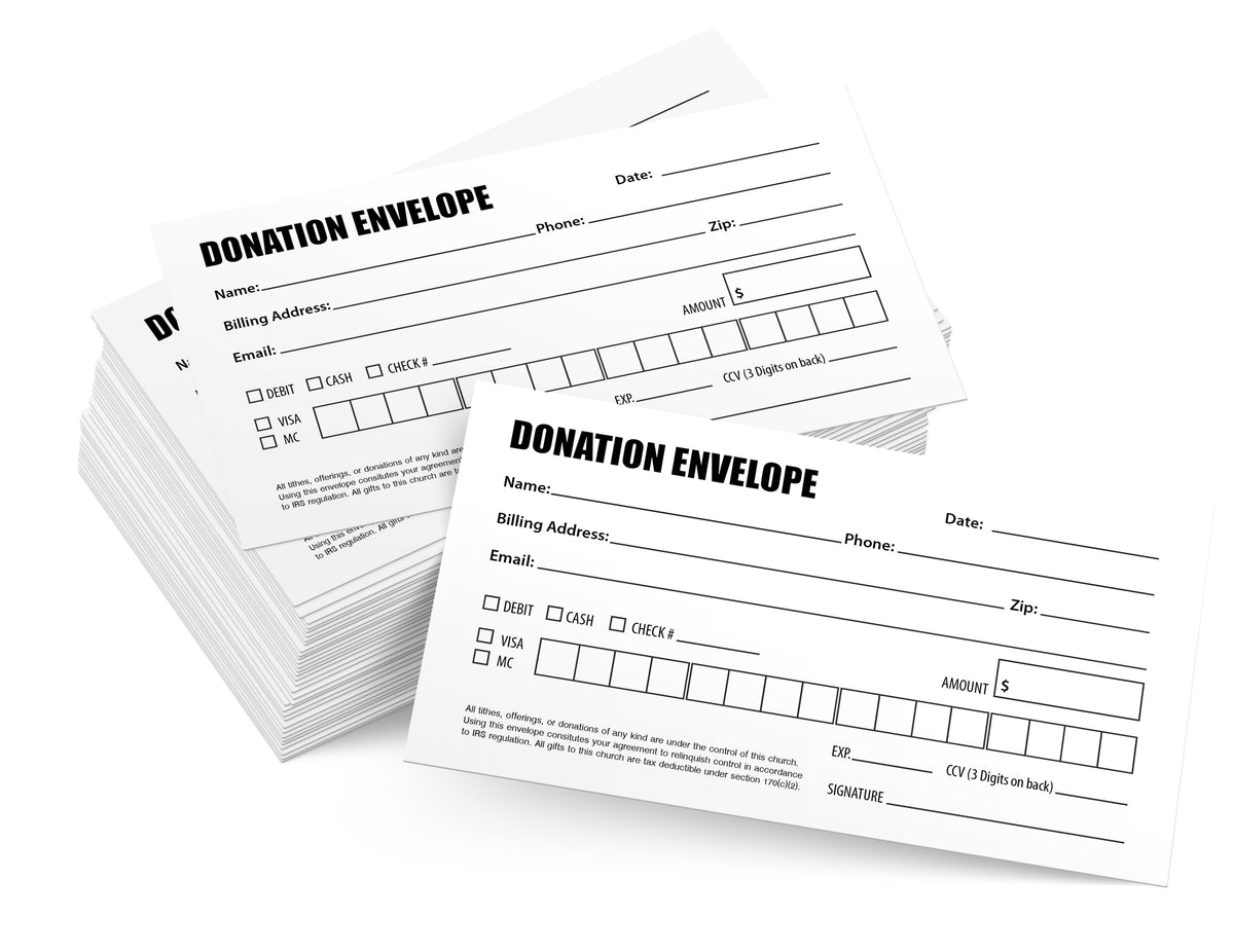 Tithing Envelopes for Donations