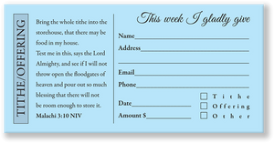 Church Offering Envelope Blue